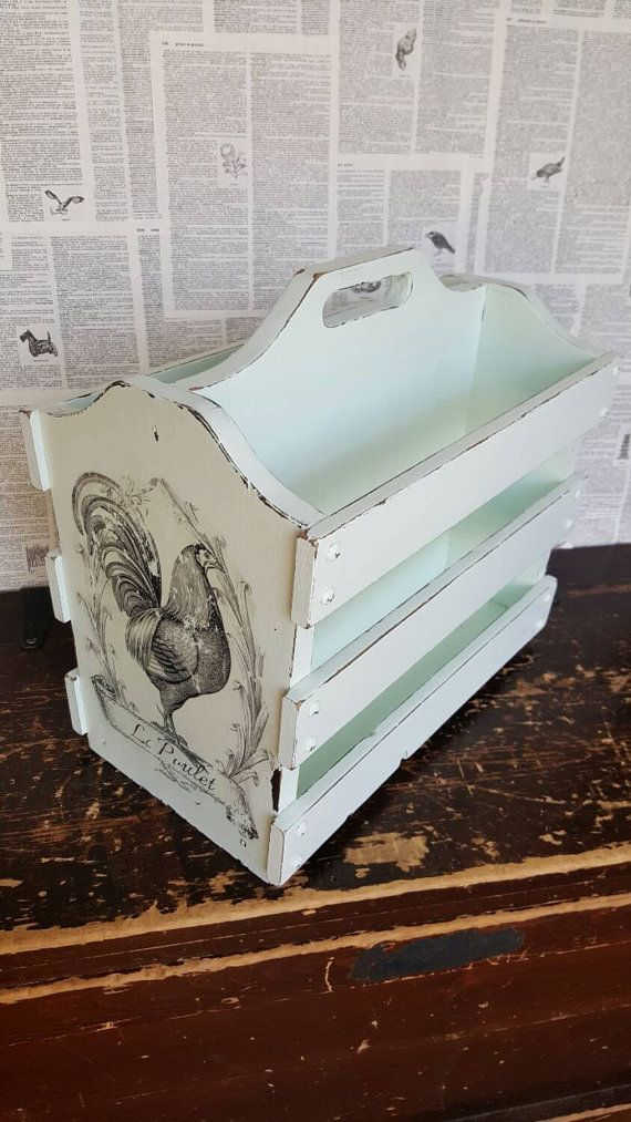 Check out this item in my Etsy shop https://www.etsy.com/listing/252493956/french-country-wooden-magazine-rack-mint