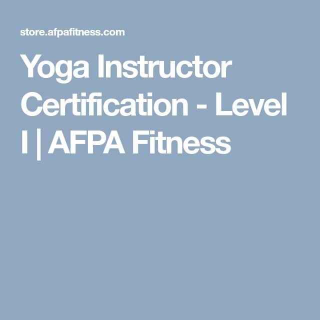 Yoga Instructor Certification - Level I | AFPA Fitness