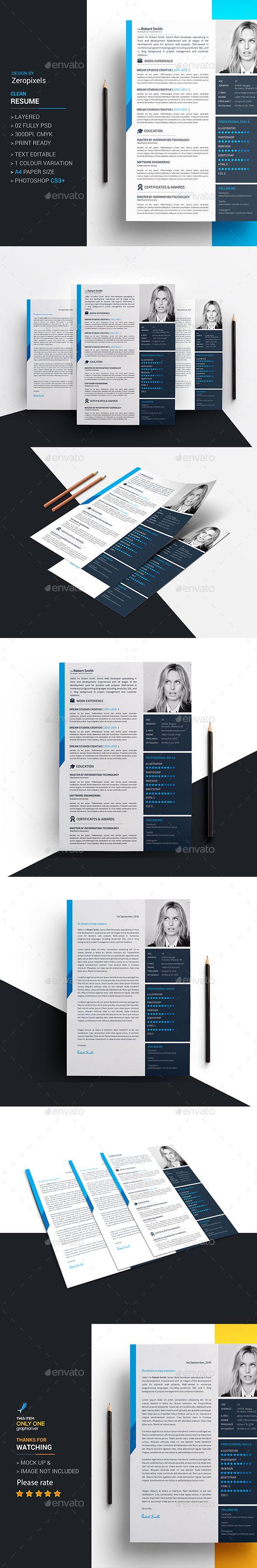 357 best cv images on pinterest resume cv resume templates and