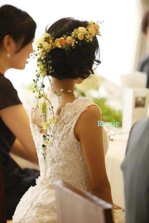 2013.2.14 イエロー&オレンジの花冠・リストレットと花嫁さま : Ro:zic die floristin