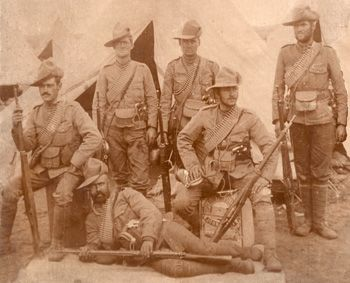 Anglo Boer War Photo, Canadians on the veldt in South Africa. This Day in History: Mar 7, 1902: Battle of Tweebosch, South Africa http://dingeengoete.blogspot.com/