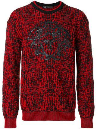 Versace embroidered Medusa jumper