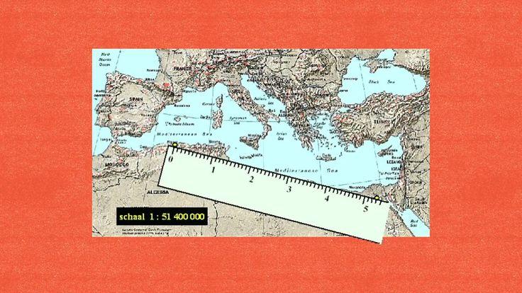 Rekenen met schaal (kaartlezen) - Rekenrijk groep 8 blok 7