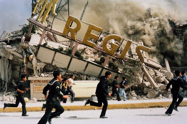 Mexico City earthquake in 1985... I didn't really live it... although I lived in Mexico City around that time, the area where I lived didn't really suffer that much.. However I do remember seeing pictures later on in my life and being greatly impacted by them... Still happens to me now...