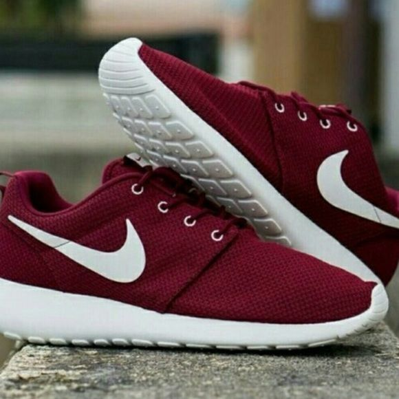 Burgundy/ Maroon Roshes!! In search for these in a 6.5 women's, please tag anyone who has these. Nike Shoes Sneakers More
