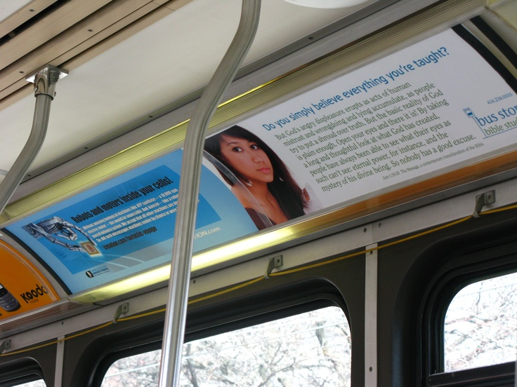 Seen on the TTC.  Sponsored by Creation.com