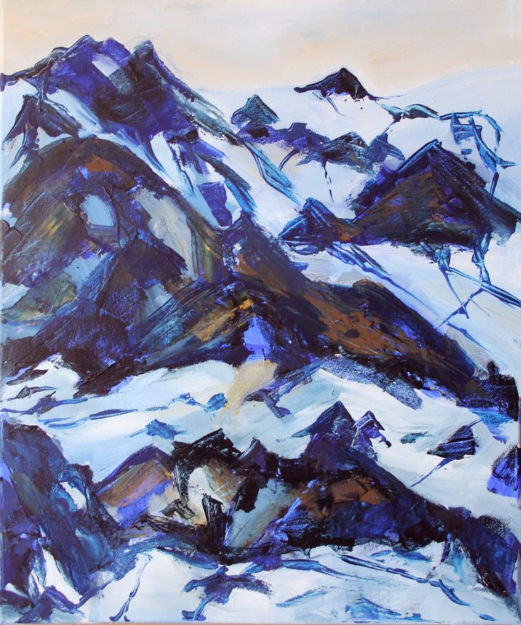 Mountains, painting, by KaVe