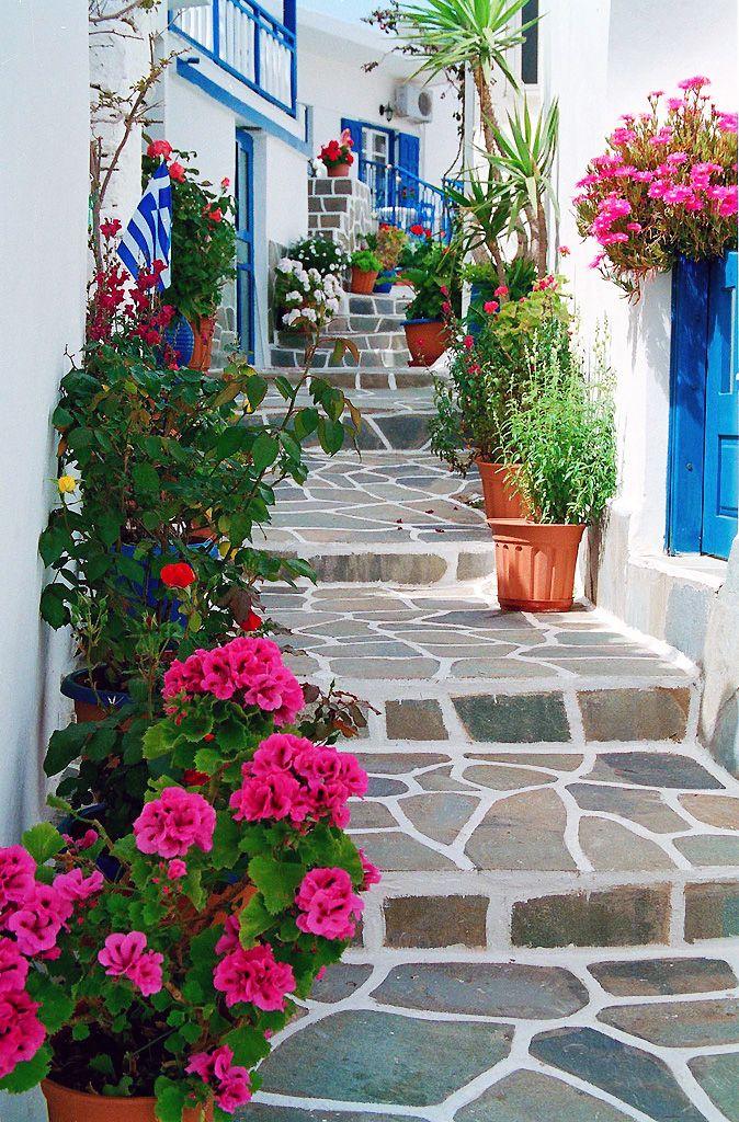 Flower Steps - Kythnos, Greece