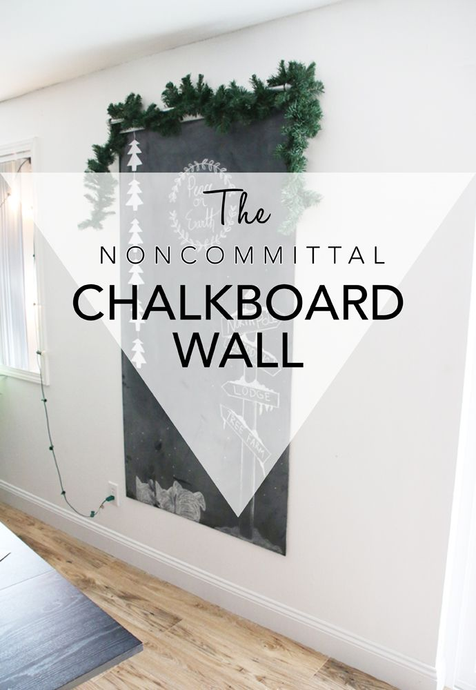 The Noncommittal Chalkboard Wall (contact paper alternative)
