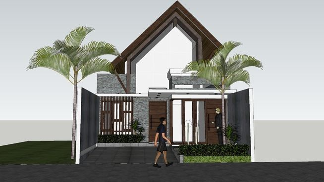 Konsep Rumah Tropis Tipe MALABAR by aguscwid - 3D Warehouse