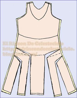 Traslados de pinzas.  Explicaciones para realizar patrones por ti mism@ para vestido con falda ampliada.