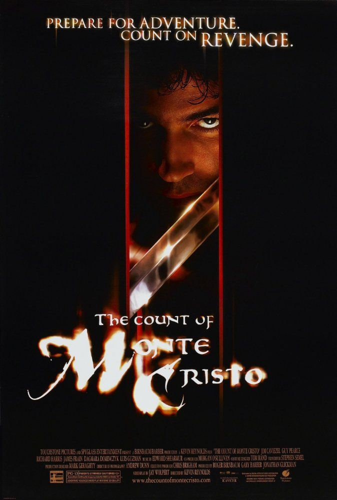 """Directed by Kevin Reynolds.  With Jim Caviezel, Guy Pearce, Richard Harris, James Frain. A young man, falsely imprisoned by his jealous """"friend,"""" escapes and uses a hidden treasure to exact his revenge."""