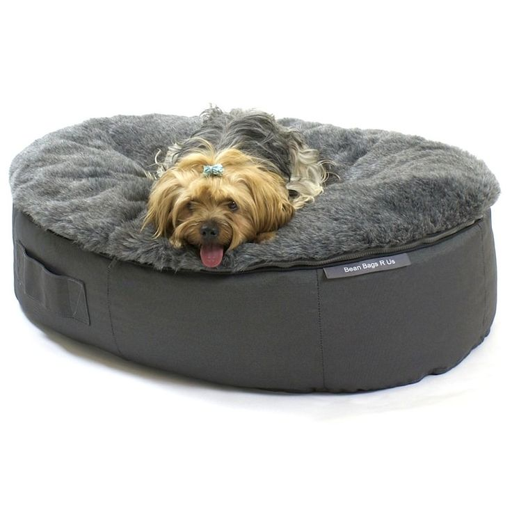 Your search for the ultimate dog bed is over. This versatile dog bed has a removable faux fur cover and can be used indoors and outdoors.