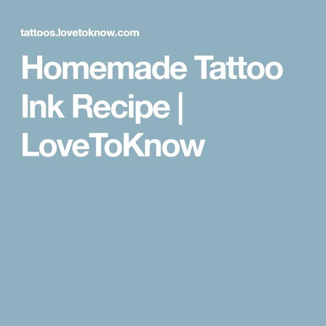 Homemade Tattoo Ink Recipe | LoveToKnow