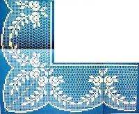 crochet em revista: Pontas com flores