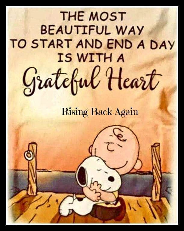 Grateful Heart Snoopy Quotes Charlie Brown Quotes