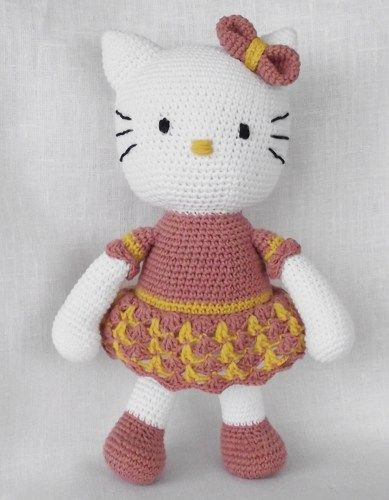 Hello Kitty Doll Toy Knitting Pattern : 206 best images about crocheted toy patterns on Pinterest Free pattern, Ami...