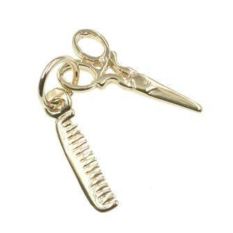 Scissors and Comb Charm - cha-0010