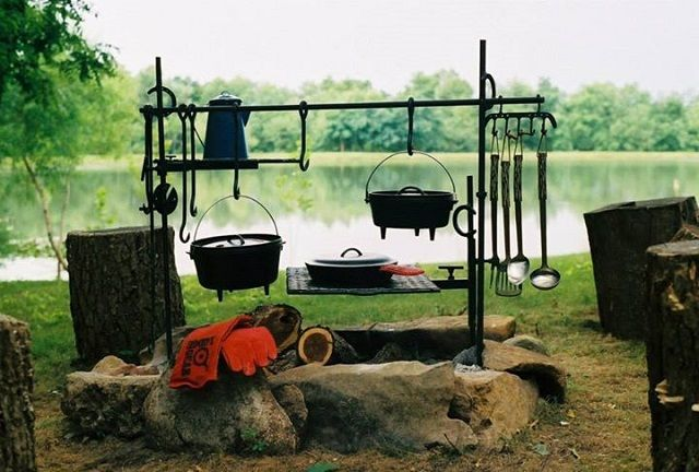 Not medieval, but a base article for medieval cooking dogs, fireplace sets, and camp cooking gear