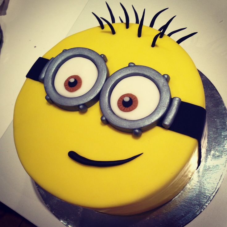 Minion Cake for my cheeky 4 year old.