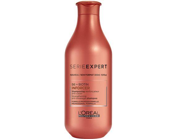 Inforcer Shampoo SERIE EXPERT von L'Oréal Professionnelwirkt gegen Haarbruch, der durch physikalische Schädigung z.B. durch Stylingtools wie Föhn, Bürste, Glätteisen entsteht. Inforcer Shampoo SERIE EXPERT von L'Oréal Professionnel 100 ml - in der neuen Beauty Box