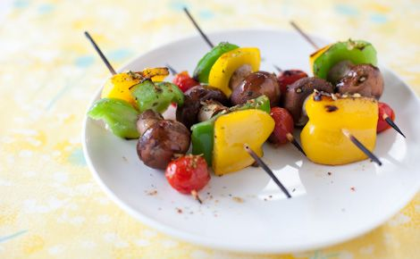#Epicure Grilled Smoky Bacon Mushroom & Pepper Skewers