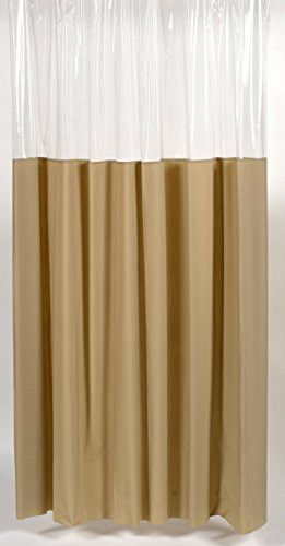Royal Bath Extra Heavy 10 Gauge Window Vinyl Shower Curtain Liner with Metal Grommets (72 inch x 72 inch ) - Linen