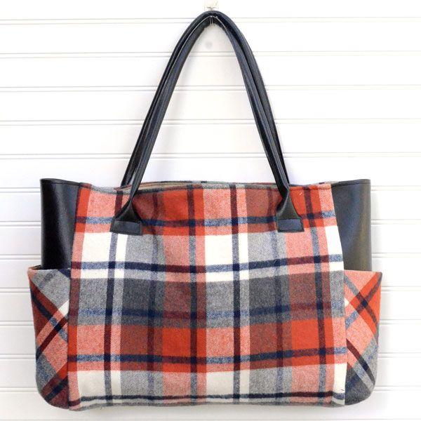 Plaid Flannel Fall Tote Bag – Sewing Tutorial Christina Przibylla-Best