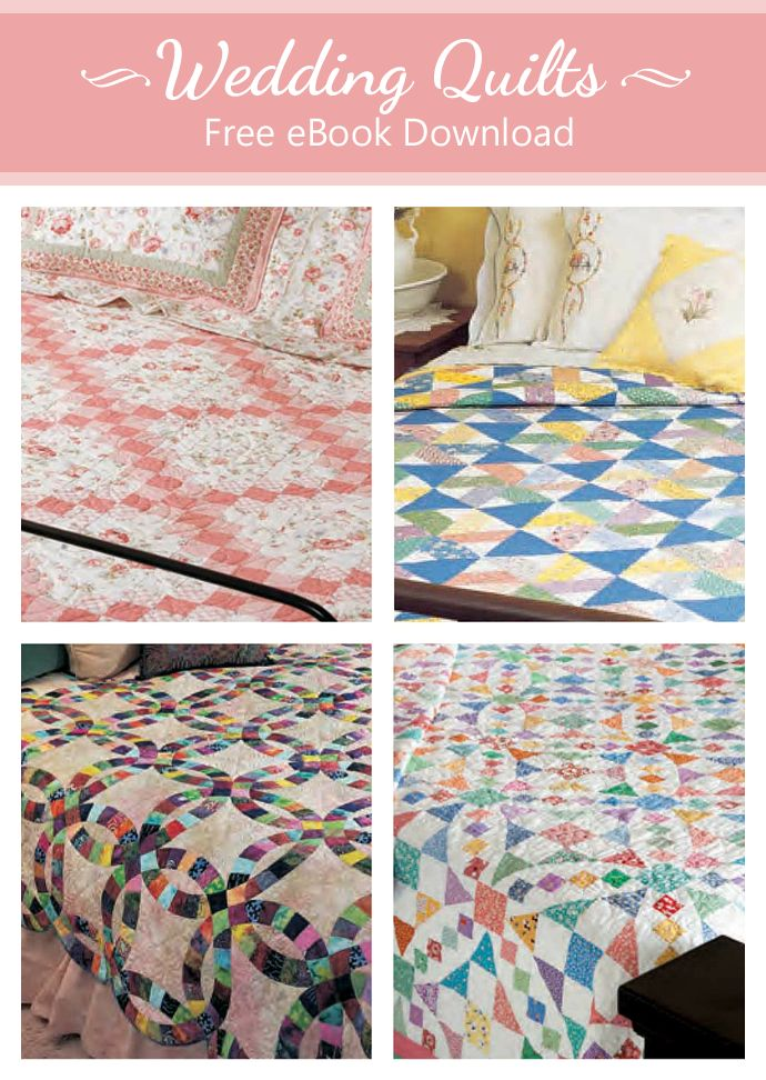 Quilt Patterns For Wedding Gifts : 351 best images about Free Quilt Patterns on Pinterest