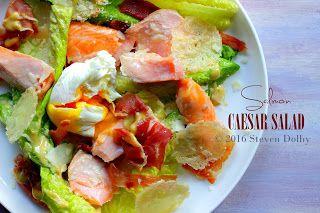 Salmon Caesar Salad by Steven Dolby