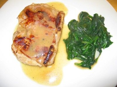 Saltimbocca av svin med vinsaus og smørstekt spinat - TRINEs MATBLOGG