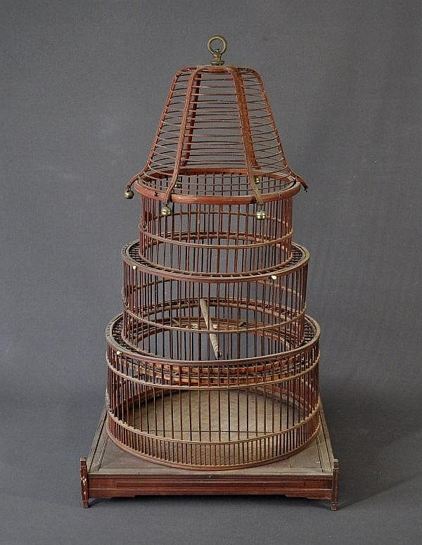 chinese bird IN cages | Early Chinese cane bird Cage.… - Fine & Decorative Arts, Silver ...