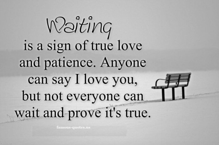 Love Quote Waiting Is A Sign Of True Love And Patience Love Quotes Loveimgs True Love Quotes For Him Signs Of True Love Patience Quotes