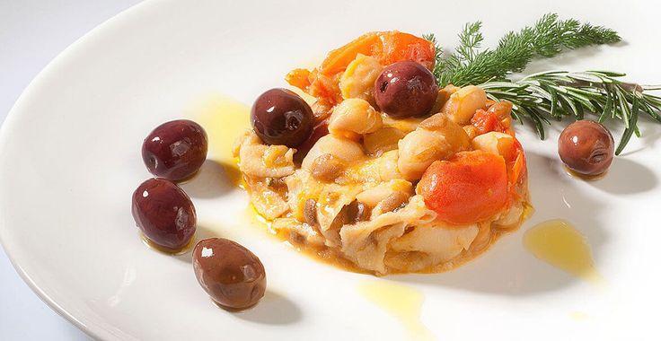 Ricetta Trippa con legumi e olive Leccino - Ricette con le Olive