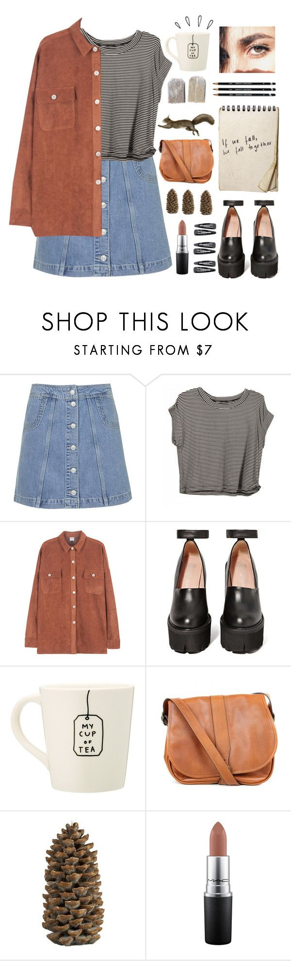 """""""Fall"""" by babemagnet00 ❤ liked on Polyvore featuring Topshop, Jeffrey Campbell, Old Navy, Barbour, Crate and Barrel, MAC Cosmetics and Forever 21"""