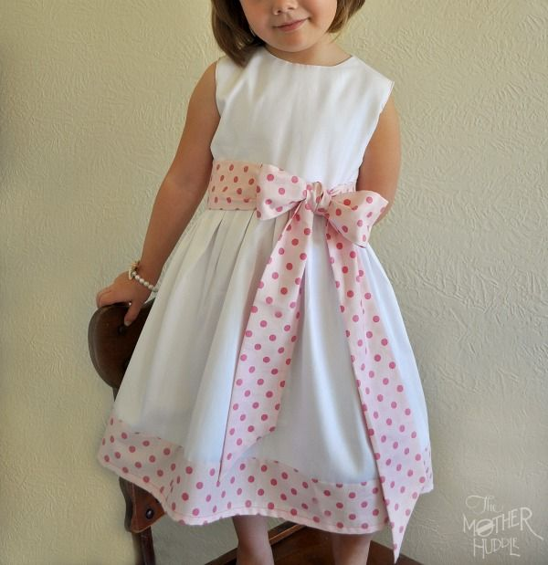 Big Bow & Sash Sewing Tutorial.  Nice classic children's dress that is always timeless.  So much better than dressing your children like little poser hipster adults...
