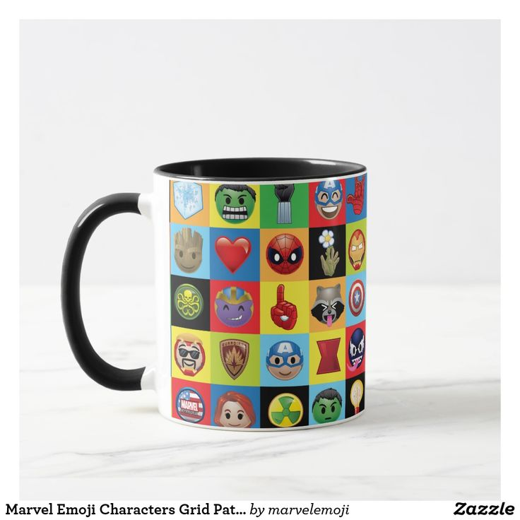 Marvel Emoji Characters Grid Pattern. Regalos, Gifts. Producto disponible en tienda Zazzle. Tazón, desayuno, té, café. Product available in Zazzle store. Bowl, breakfast, tea, coffee. #taza #mug