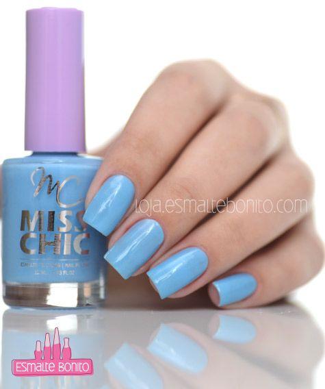 Esmalte Azul Aquarela Miss Chic