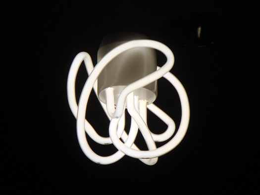 Plumen Series 2009 Prototype by Hulger (UK). Designes as a reaction against the aesthetic of existing CFL products.