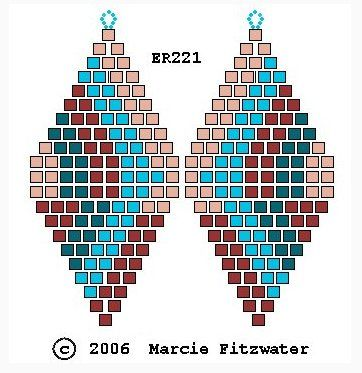 Earrings brick weave (many circuits) | biser.info - all about beads and beaded works