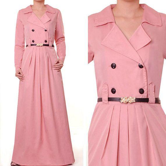 Cotton Career Abaya Muslim Islamic Long Sleeves Maxi by MissMode21, $30.00