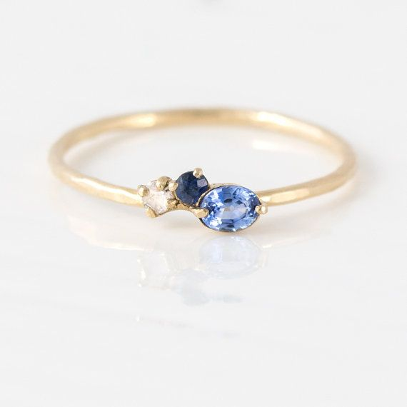 Something Blue Mini Cluster Ring // Blue by MelanieCaseyJewelry