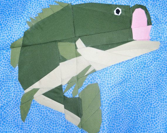 Bass Fish Paper Piecing Quilt Pattern By