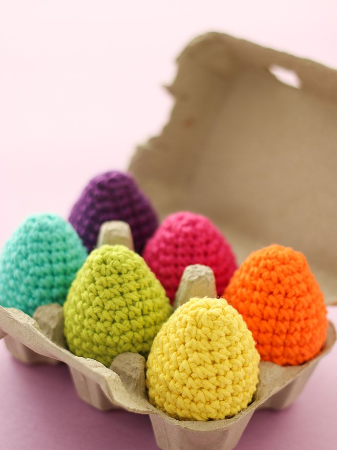 DIY: crochet easter eggs in cotton yarn