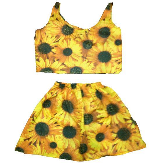 Sunflower Set by ByAndie on Etsy