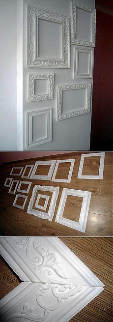 Декор стены рамками из багетов | ШПИЛЬКИ