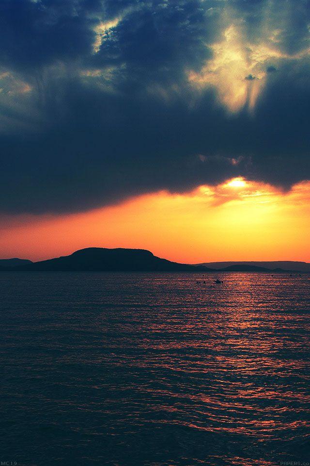 FreeiOS7 | mc19-wallpaper-badacsony-sea-sunset-green | freeios7.com