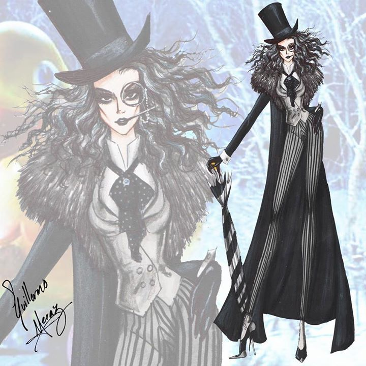 """The Penguin"" (Female Version) - Batman Villains Fashion Collection by Guillermo Meraz"
