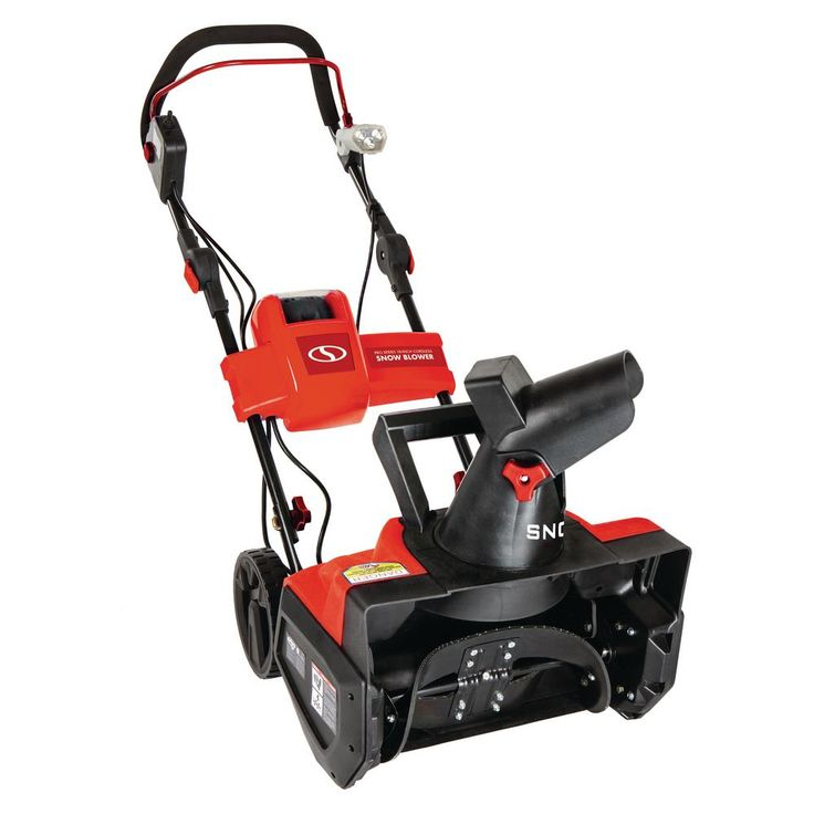 iON 40-Volt Cordless 18 in. Single Stage Brushless Snow Blower Refurbished Red