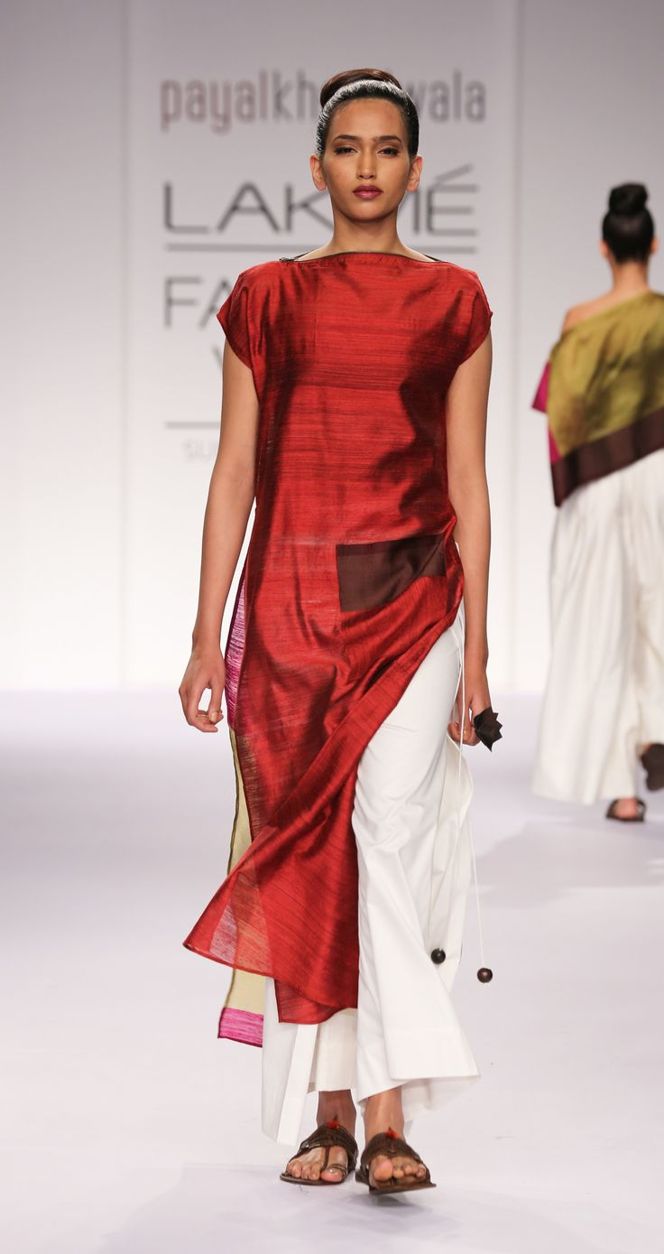 payalkhandwala - SS/2014 - Silk Sari Tunic and Cotton Wrap Palazzo